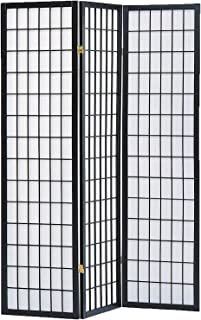 Milton Greens Stars 3-Panel Sam Room Divider, Black