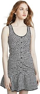 فستان قصير بكشكشة بياقة واسعة للنساء من باركر