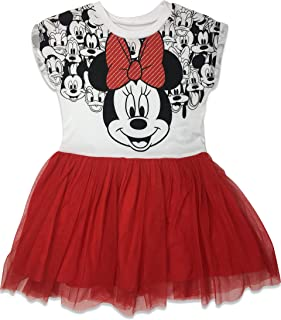 Minnie Mouse Girls' Short Sleeve Tulle Dress