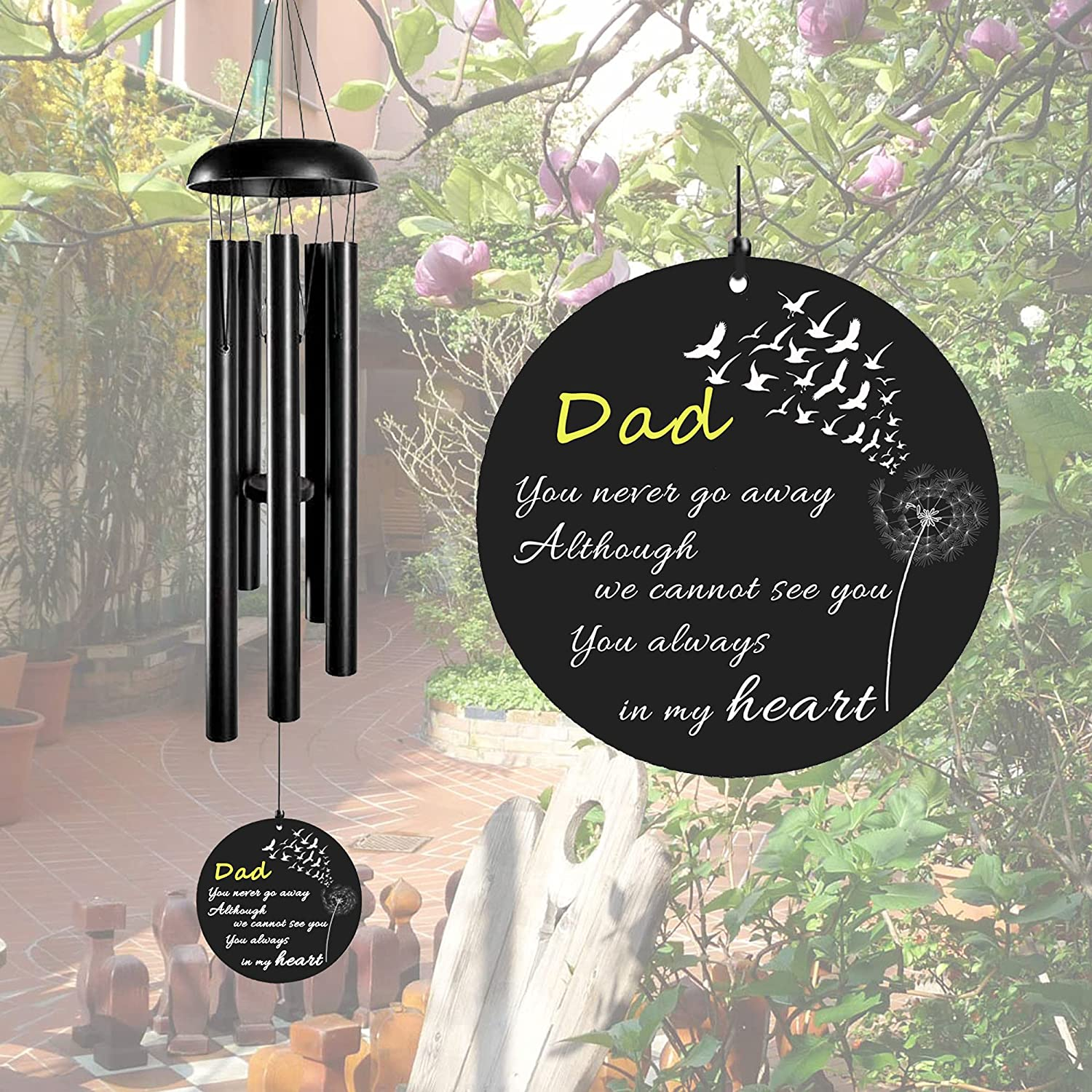 ARARTKEL Memorial Wind Chimes for Columbus Mall Gift Special Campaign Sympathy of Loss Father