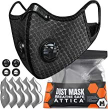 ATTICA Face Mask with Filters - Reusable Washable Adjustable Face Mask for Running, Cycling, Outdoor Activities(1 Mask + 1...