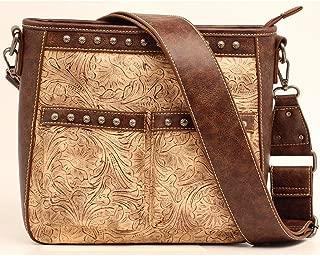 Blazin Roxx Women's Embossed Studded Concealed Carry Crossbody Bag