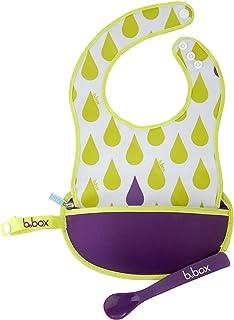 b.box Travel Bib + Spoon - Splish Splash