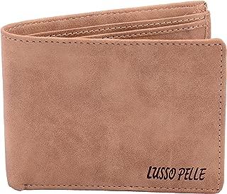 Lusso Pelle Premium Quality Leatherette Wallet for Men (Beige)