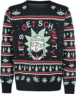 Rick & Morty Christmas Sweater Get Schwifty Size M Bioworld Felpe