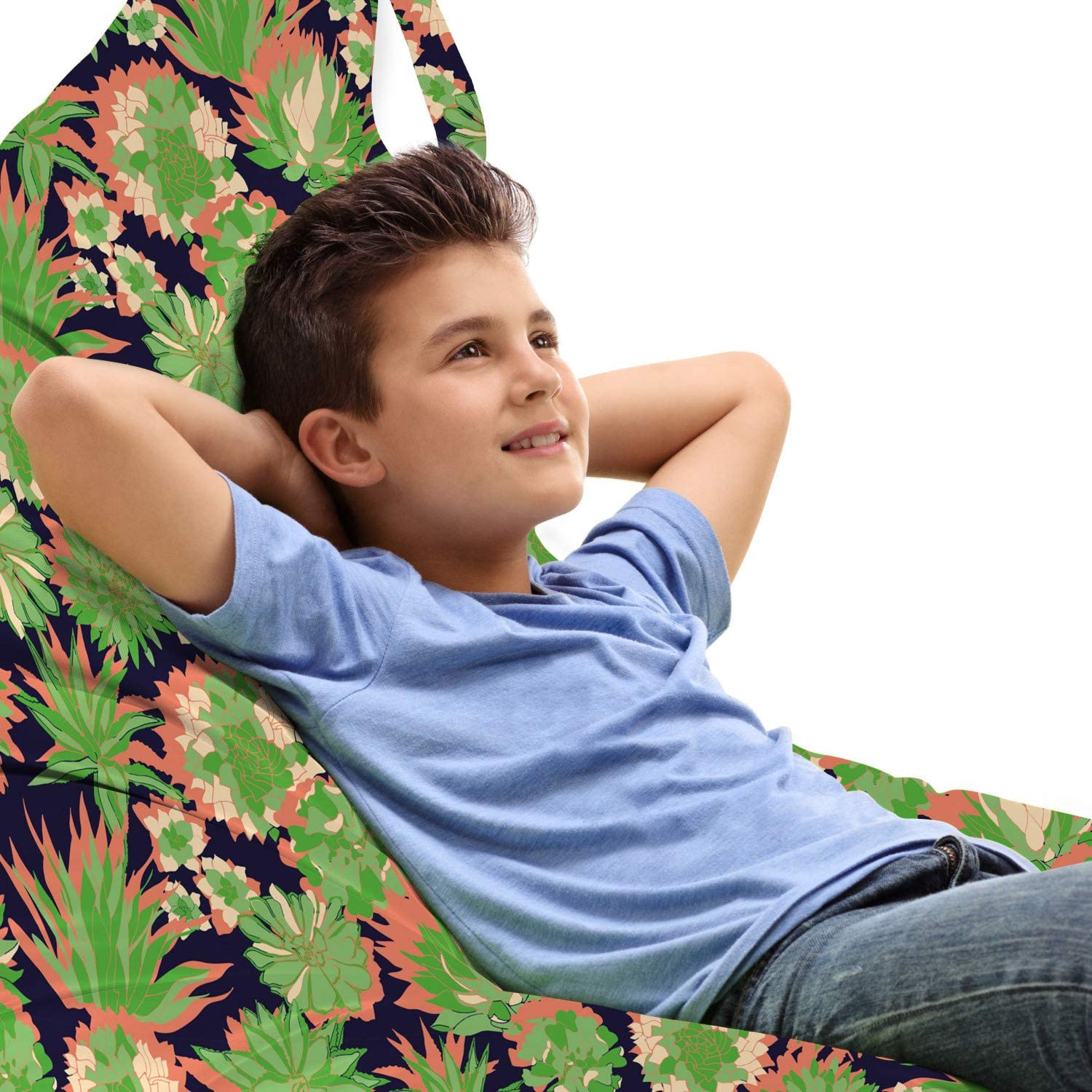 National uniform free shipping Lunarable Agave Max 61% OFF Plant Lounger Chair Bag C Numerous Dense Tropic