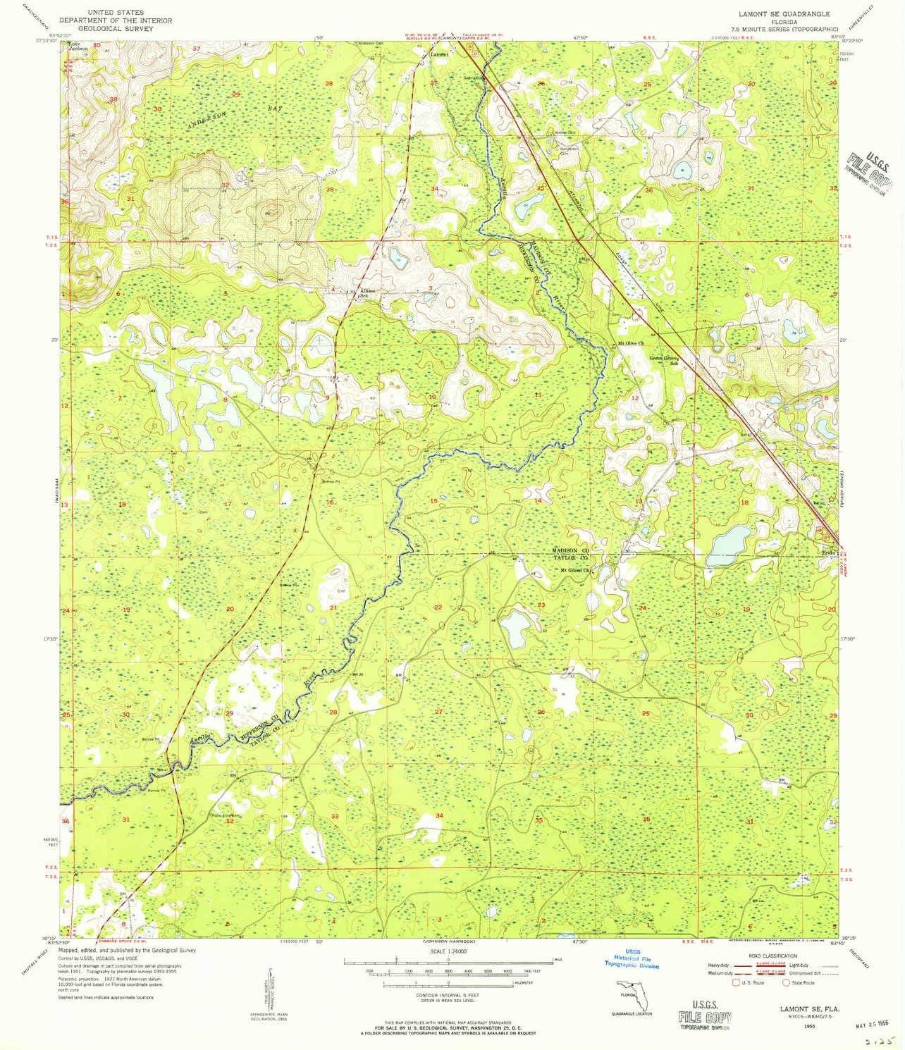 YellowMaps Lamont SE FL topo map Rare latest Minut Scale 7.5 X 1:24000