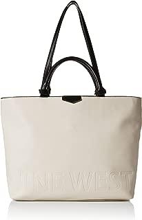 Nine West Cammie Logo Tote Bag, milk/black