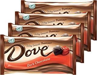 DOVE PROMISES Dark Chocolate Candy 8.87-Ounce Bag (Pack of 4)