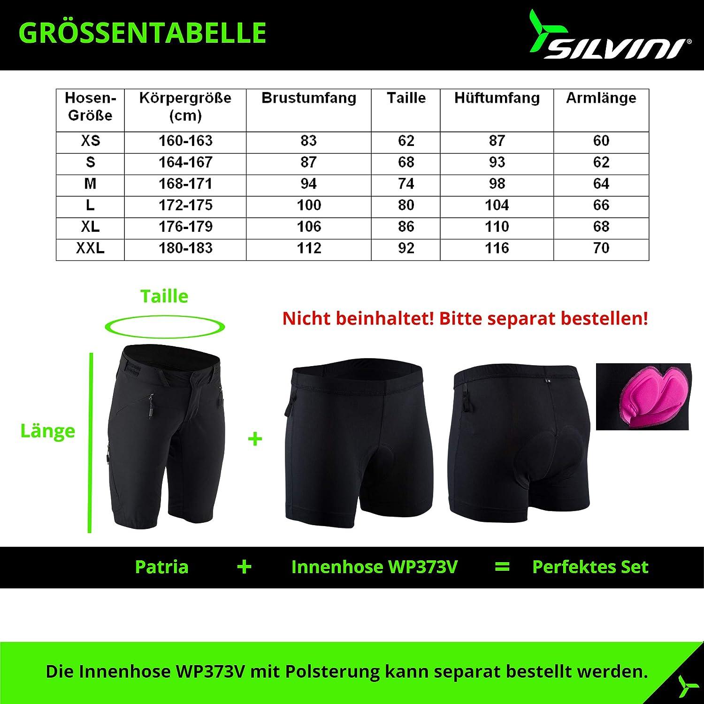 pantalones cortos de ciclismo para mujer Pantalones cortos de ciclismo para mujer pantalones cortos de ciclismo de monta/ña para mujer sin acolchado SILVINI Alma