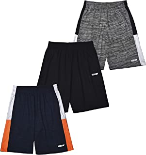 Hind 3-Pack Boys Basketball Shorts, Athletic Performance Shorts for Boys