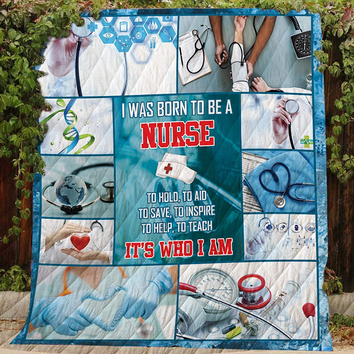 Nursing Life Quilt D228, Queen All-Season Quilts Comforters with Reversible Cotton King Queen Twin Size - Best Decorative Quilts-Unique Quilted for Gifts