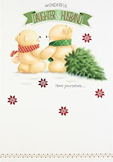 Hallmark Forever Friends Christmas Card 'For Daughter and Husband' - Medium