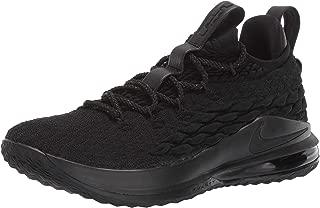 Nike Lebron XV Low Mens Fashion-Sneakers AO1755-004_12 - Black/Black-Thunder Grey