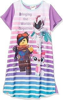LEGO Big Movie 2, Short Sleeve Girls Pajama Dorm W/Glitter