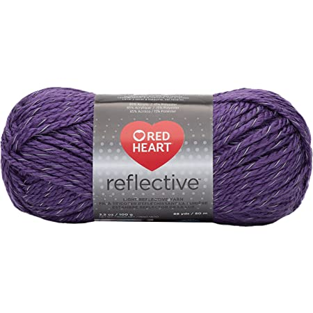 Coats Yarn Red Heart Reflective Yarn-Purple, Other, Multicoloured