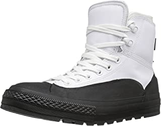 Converse Chuck Taylor Tekoa Boot Water Resistant Leather Rubber (9.5 D US) White/Black