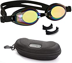BEZZEE PRO Kids Swimming Goggles with 3 Adjustable Nose Bridge