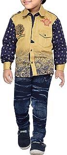 AJ DEZINES Conjunto de ropa de camisa y pantalones vaqueros para niños