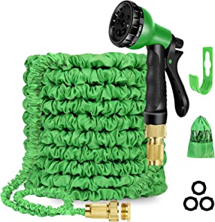 Sponsored Ad – 100ft Expandable Garden Hose, Water Hose with 8 Function Nozzle, Durable 3-layer latex, Solid Brass Fitting...
