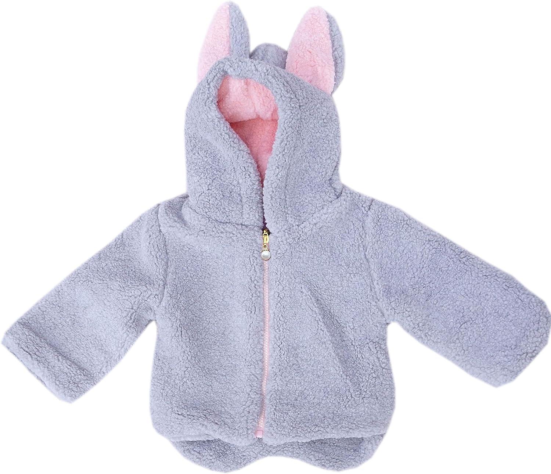 Baby Infant Little Girls Cozy Bunny Winter Jacket Coat Outerwear