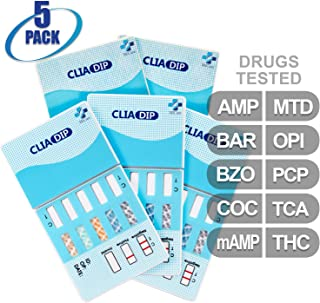 MiCare [5pk] - 10-Panel Urine Drug Test Card (AMP/BAR/BZO/COC/mAMP/MTD/OPI/PCP/TCA/THC) #MI-WDOA-1104