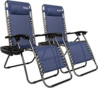 Bonnlo Infinity Zero Gravity Chair, Outdoor Lounge Patio Chairs with Pillow and Utility..
