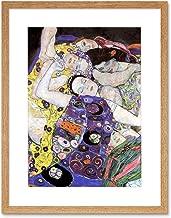 Wee Blue Coo Klimt The Maiden 1913 Artwork Framed Wall Art Print 12X16 Inch