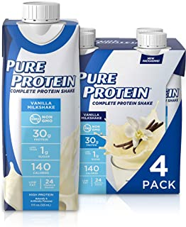 Pure Protein Complete Ready to Drink Protein Shake, Keto Diet Friendly Snack, 30g Whey Protein, With Vitamin A, Vitamin D,...