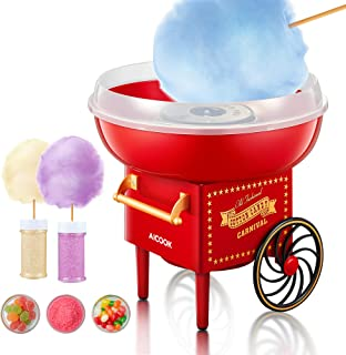 AICOOK Machine à Barbe à Papa, 500W Cotton Candy Maker Appareil pour Maison, Fêtes, Festivals ,Fete Foraine et Anniversair...