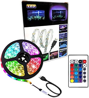 Lumive LED Strip Lights 2M RGB Strip light Waterproof USB Powered for TV Back light Bedroom Kitchen Desktop PC Gaming Fish...