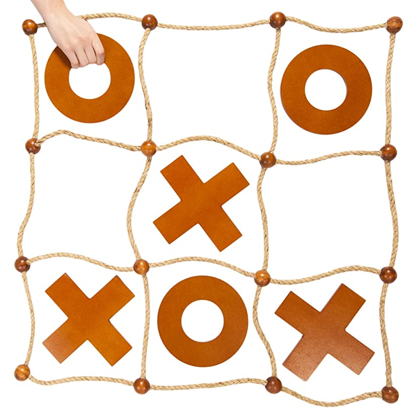 Giant Tic Tac Toss Yard Game   Premium Wooden Tic Tac Toe Game, Large Indoor Outdoor Activity   Backyard Games, Family Games, & Tailgating Parties   Wooden Board Game/Lawn Games for Adults & Kids