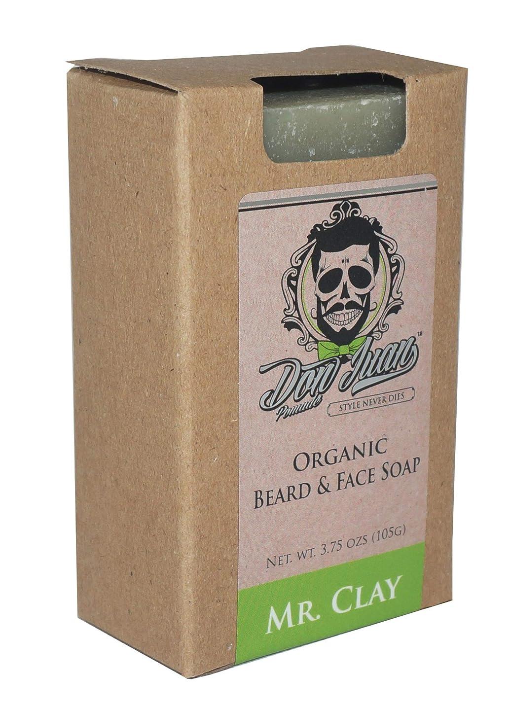 ペルソナ乱すモーターDon Juan Mr. Clay Organic Beard Face Soap Bar 3.75 Oz. by Don Juan