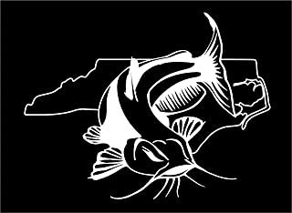 North Carolina Channel Blue Flathead Catfish Fishing state window sticker decal (5