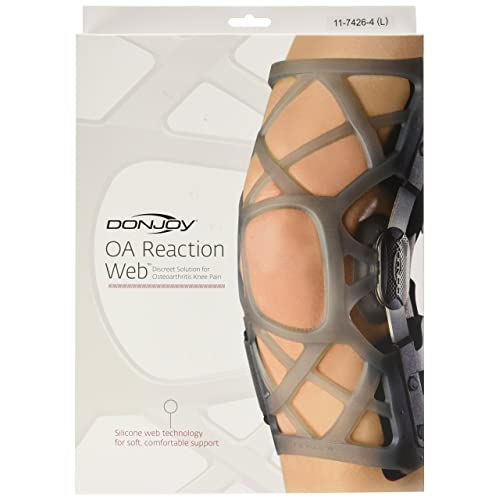 1c82206b2a DonJoy OA (Osteoarthritis) Reaction WEB Knee Support Brace: Medial  Right/Lateral Left