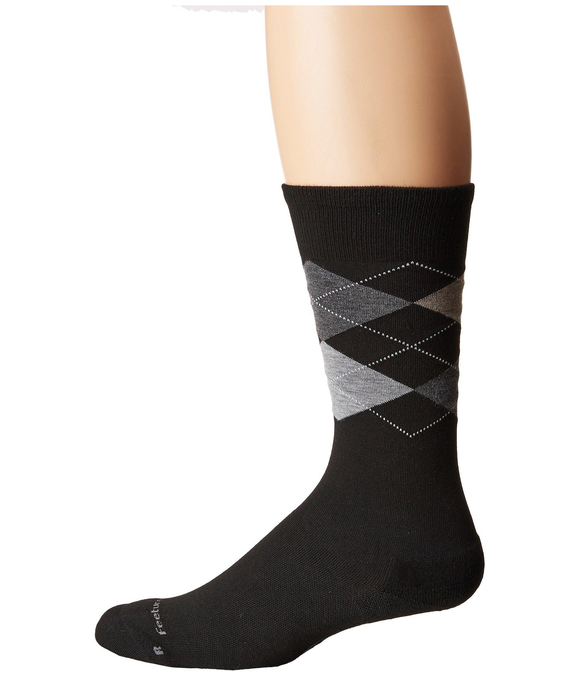 Black Cushion Sock Argyle Crew Feetures zCP1x7