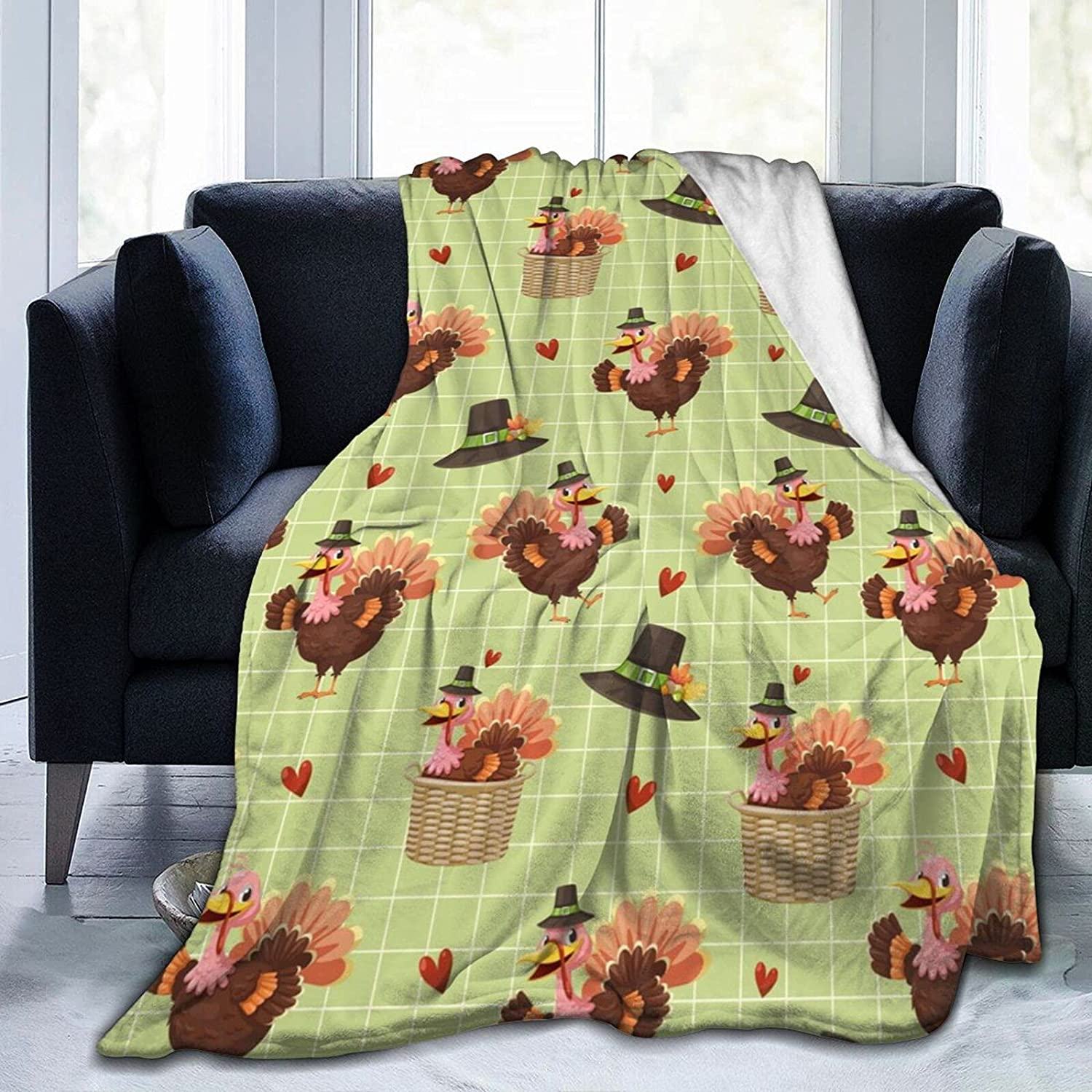 Sordiw Flannel Fleece Quality inspection Bed Blanket Outlet ☆ Free Shipping Pattern Turkey with Throw for