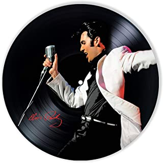 Elvis Presley Décor Vinyl Painted - Wall Art Decor Elvis Presley King of Rock and Roll - Unique Gifts for Fans Elvis Presley - Best Gift for Rock and Roll Music Lover - The Best Home Decoration