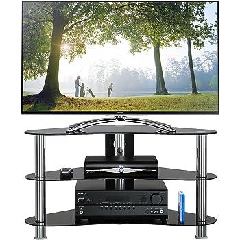 1home Soporte Vidrio Templado Negro de TV para 32-42pulgadas 90 cm de Ancho de plasma/LCD/LED/3D: Amazon.es: Electrónica