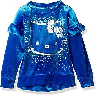 Hello Kitty Girls' Velvet Sweatshirt with Foil Artwork