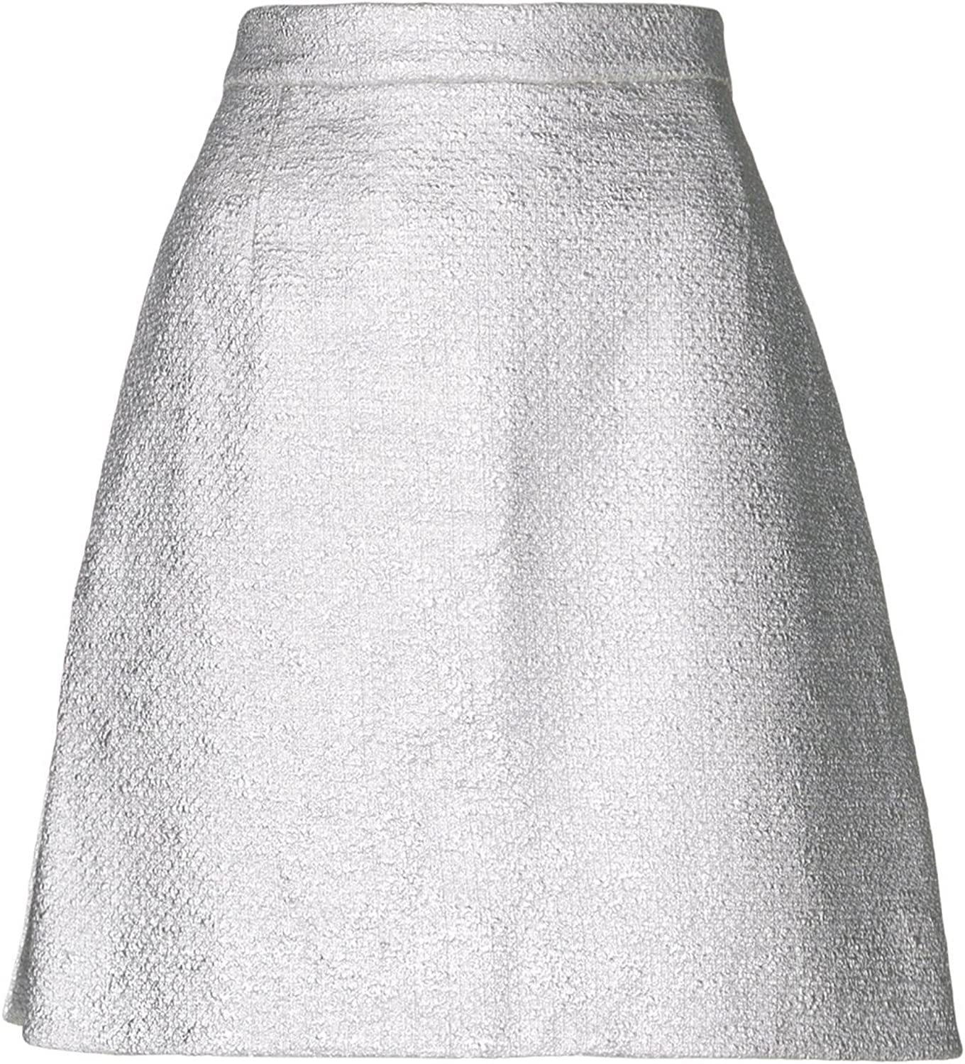 Carven Womens Metallic Above Knee ALine Skirt