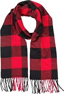 Cashmere Feel Buffalo Checkered Plaid Warm Winter Unisex Fashion Scarf for Women and Men