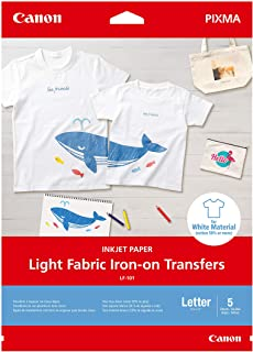Canon Inkjet Fabric Iron-On Transfer Paper | For Light Fabrics and T-Shirts| Print From a Compatible to Canon Inkjet Photo...