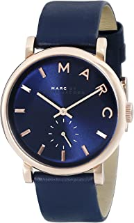 Marc by Marc Jacobs Women's MBM1329 Baker Stainless Steel Watch with Blue Leather Band