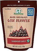 NATIERRA Himalania Dark Chocolate-Covered Goji Berries | Non-GMO| 6 Ounce
