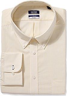 Izod Mens Regular Fit Stretch Check Buttondown Collar Dress Shirt