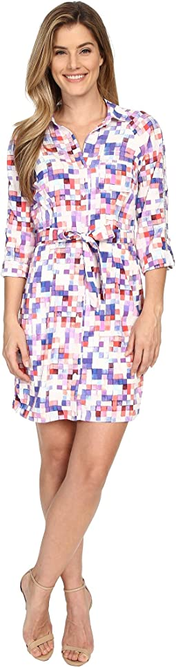 Kelsie Washed Crepe De Chine Shirtdress