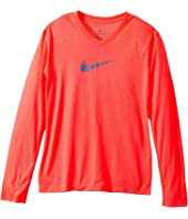 Nike Kids Dry Legend Long Sleeve Training Top (Little Kids/Big Kids)