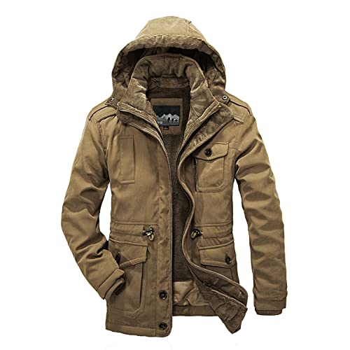 810c15628b78 Mr.Stream Men s Winter 3-in-1 Hooded Jacket Windproof Faux Fur Lined
