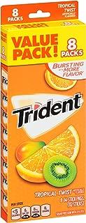 Trident Tropical Twist Sugar Free Gum - 8 Packs (112 Pieces Total)